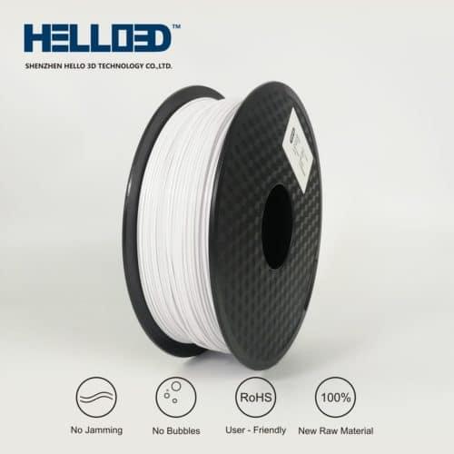 HELLO3D 3D Printer Filament - HIPS - 1.75mm - White - 1Kg