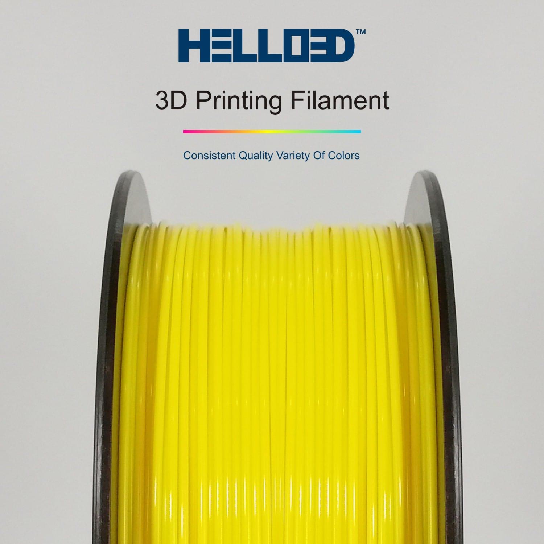 HELLO3D 3D Printer Filament - PLA - 1.75mm - Yellow - 1Kg