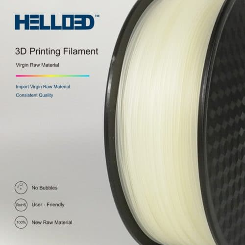 HELLO3D 3D Printer Filament - PA (Nylon) - 1.75mm - Natural - 1Kg
