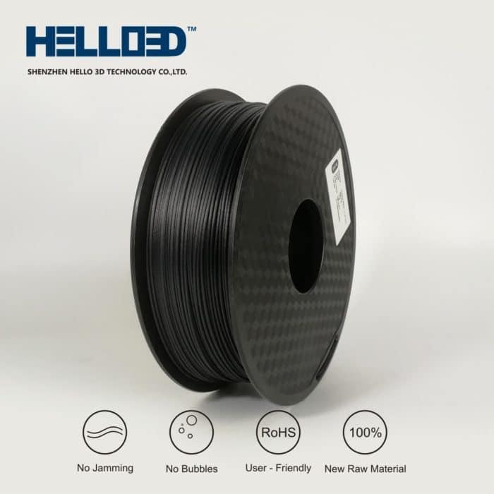 HELLO3D 3D Printer Filament - 1.75mm - Carbon Fibre - 1Kg