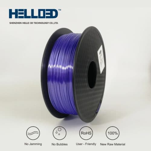 HELLO3D 3D Printer Filament - PLA - 1.75mm - Silk Like Fog Blue - 1Kg