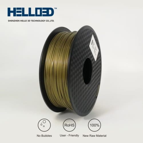 HELLO3D 3D Printer Filament - ABS - 1.75mm - Bronze - 1Kg