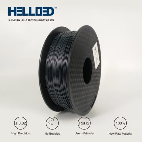 HELLO3D 3D Printer Filament - ABS - 1.75mm - Graphite - 1Kg