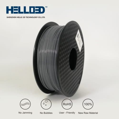 HELLO3D 3D Printer Filament - HPLA - 1.75mm - Grey - 1Kg