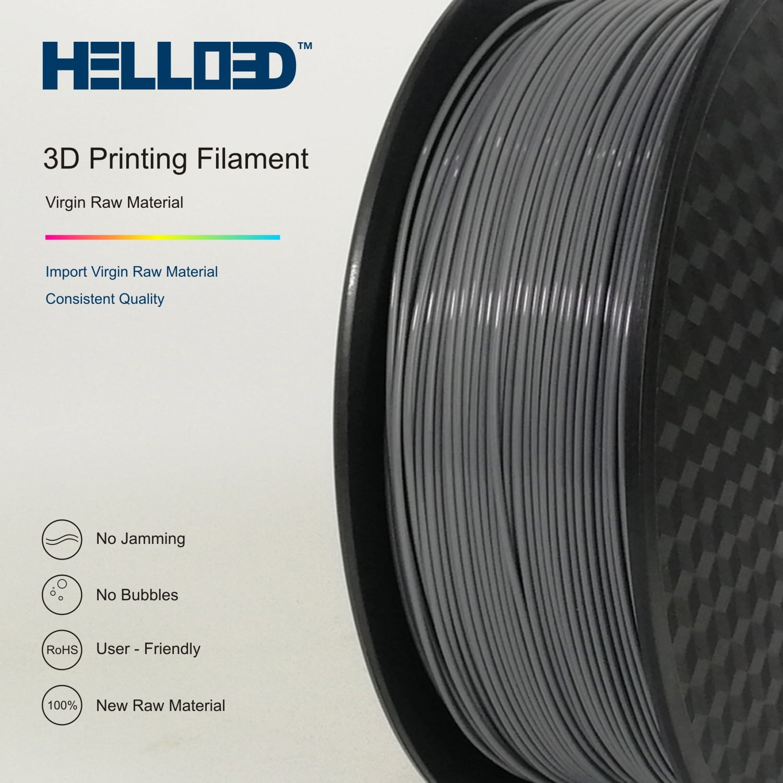 HELLO3D 3D Printer Filament - HPLA - 1.75mm - Grey - 1Kg