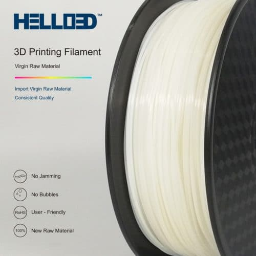 HELLO3D 3D Printer Filament - HPLA - 1.75mm - White Natural - 1Kg