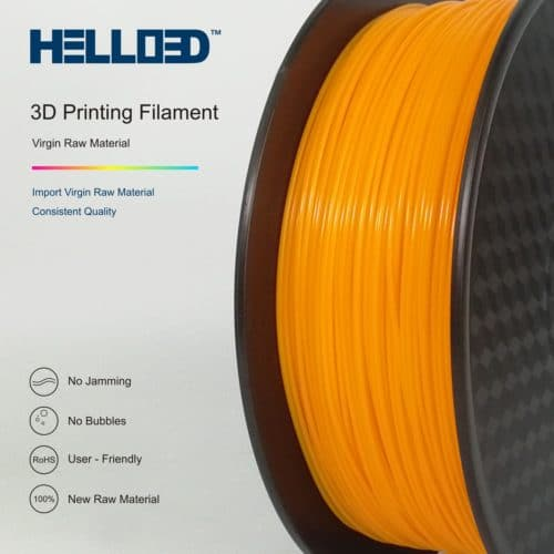 HELLO3D 3D Printer Filament - HPLA - 1.75mm - Orange - 1Kg
