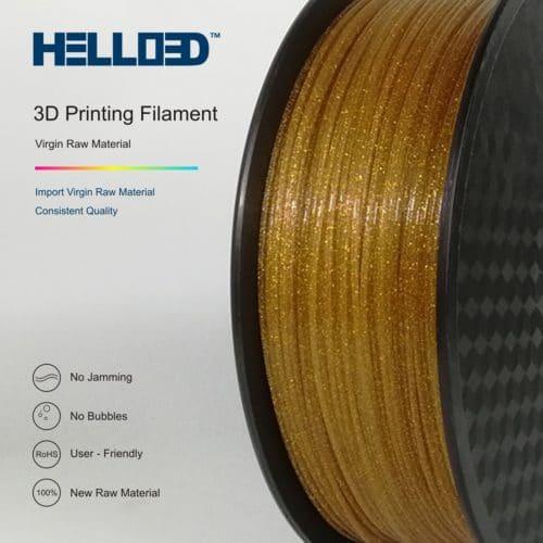 HELLO3D 3D Printer Filament - PLA - 1.75mm - Shining Gold - 1Kg