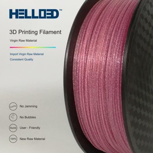 HELLO3D 3D Printer Filament - PLA - 1.75mm - Shining Pink - 1Kg