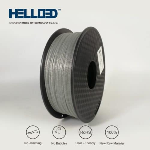 HELLO3D 3D Printer Filament - PLA - 1.75mm - Shining Silver - 1Kg