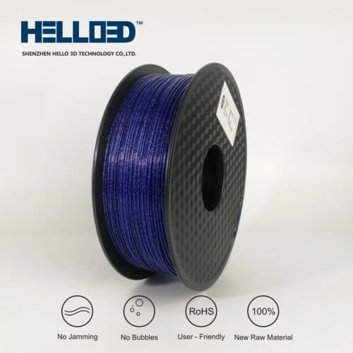 HELLO3D 3D Printer Filament - PLA - 1.75mm - Shining Blue - 1Kg