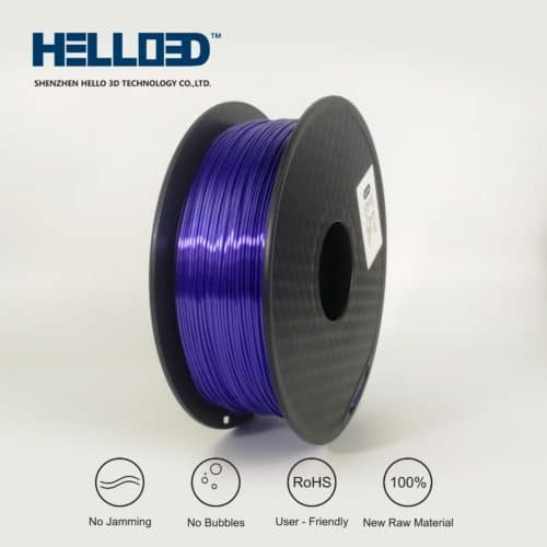 HELLO3D 3D Printer Filament - PLA - 1.75mm - Silk Like Blue Purple - 1Kg