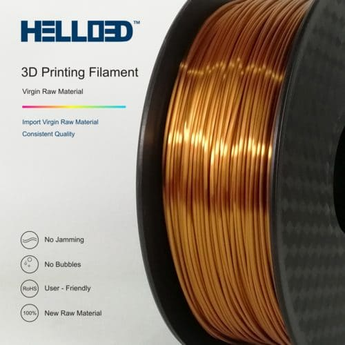 HELLO3D 3D Printer Filament - PLA - 1.75mm - Silk Like Copper - 1Kg