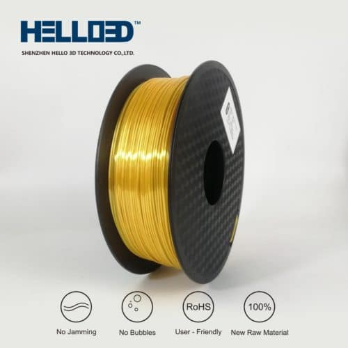 HELLO3D 3D Printer Filament - PLA - 1.75mm - Silk Like Gold - 1Kg