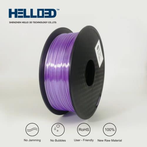 HELLO3D 3D Printer Filament - PLA - 1.75mm - Silk Like Lavender - 1Kg
