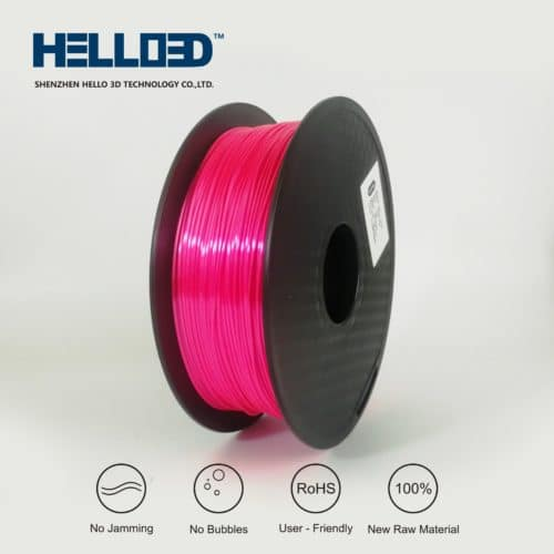 HELLO3D 3D Printer Filament - PLA - 1.75mm - Silk Like Youth Red - 1Kg