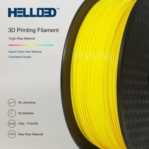 HELLO3D 3D Printer Filament - HPLA - 1.75mm - Yellow - 1Kg
