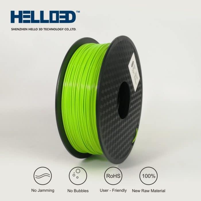 HELLO3D 3D Printer Filament - PLA - 1.75mm - Grass Green - 1Kg