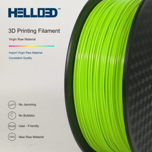 HELLO3D 3D Printer Filament - PLA - 1.75mm - Grass Green - 1Kg