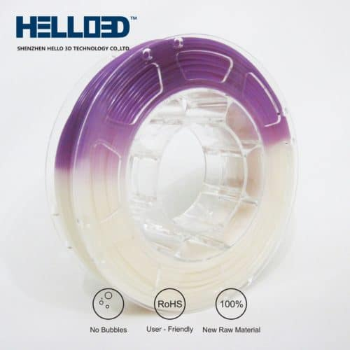 HELLO3D 3D Printer Filament - PLA UV - 1.75mm - Purple - 1Kg