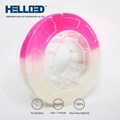 HELLO3D 3D Printer Filament - UV PLA - 1.75mm - Red - 1Kg