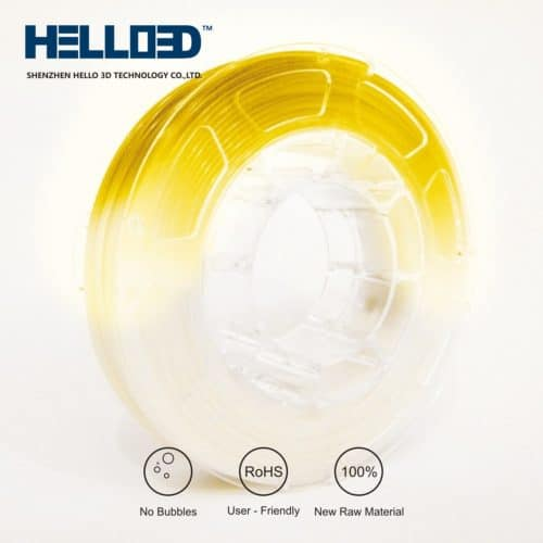 HELLO3D 3D Printer Filament - PLA UV - 1.75mm - Yellow - 1Kg
